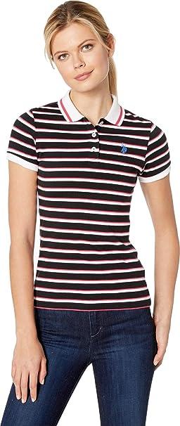 c94a2308 U.S. Polo Assn. Womens Stripe Polo at Amazon Women's Clothing store: