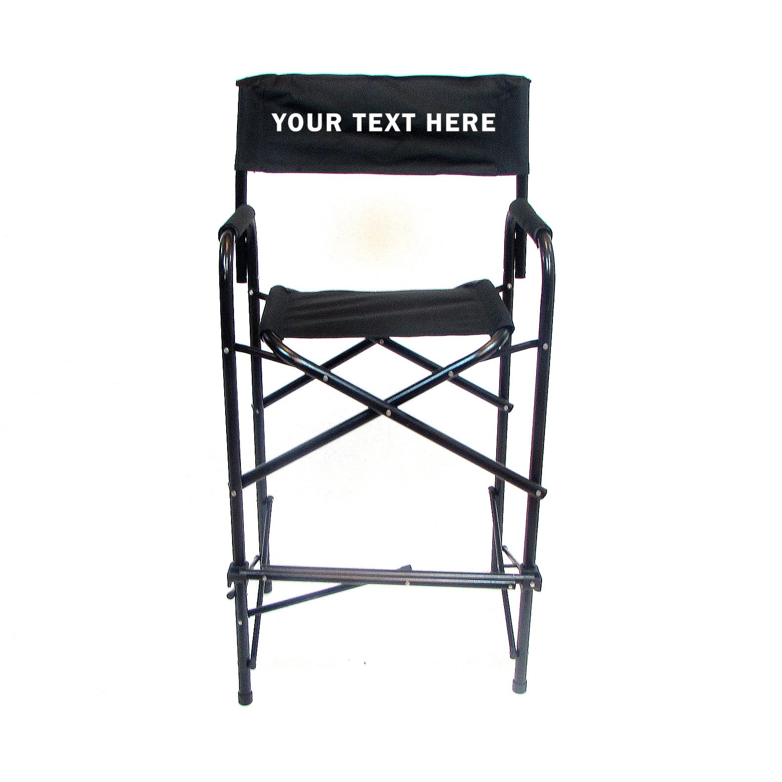 PERSONALIZED IMPRINTED All Aluminum 30'' Standard Directors Chair by E-Z Up - Black