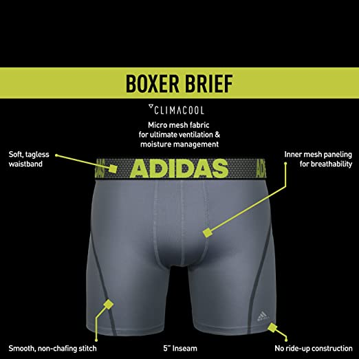 Amazon.com  adidas Men s Sport Performance ClimaCool Boxer Underwear (2 or  4 pack)  Sports   Outdoors 65fc5dcb7d019