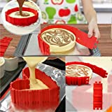 JINSEY Nonstick 4PCS Silicone Cake Mold Cake Pan Magic Bake Snake DIY Baking Mould Tools - Design Your Cakes Any Shape