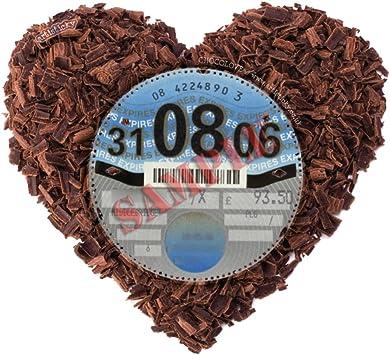 FREE UK POSTAGE Chocolate Heart Parking Permit Holder Skin