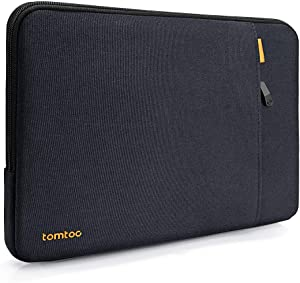 tomtoc 360° Protective Sleeve for 15 inch Dell XPS, 14 HP Acer Chromebook, 14 Inch Thinkpad T and E Series Laptop, Shockproof Notebook Bag Case with Accessory Pocket