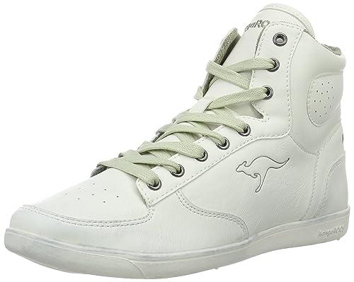 Kangaroos 3596A - Zapatillas Altas de Piel sintética Mujer, Color Blanco, Talla 39 EU