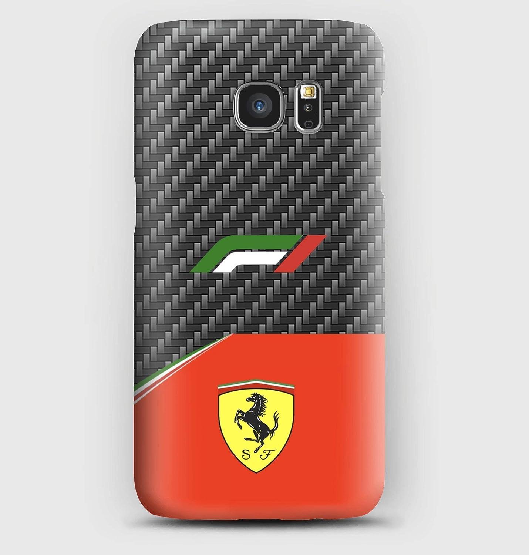 F1 carbon Ferrari coque pour Samsung S6, S7, S8, S9, A3, A5, A7,A8,J3, J5, Note 4, 5, 8,9, Grand prime,