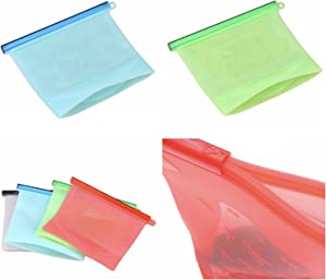 Silicone Reusable Food Saver Bags - 4 Pack