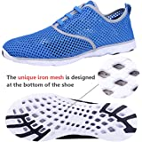 Water Shoes Mens Quick Drying Aqua Shoes Beach Pool Shoes Mesh Slip On