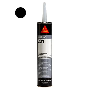 Sikaflex-221 Polyurethane Adhesive/Sealant 10 1 fl  oz  Cartridge, Black