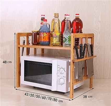 Estante de cocina Estante de microondas Estante de horno de microondas Estante de dos pisos de