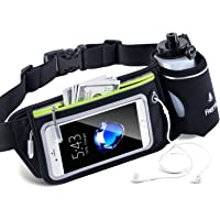FREETOO Hydration Running Belt Waist Bag Bum Bag Fanny Pack with Water Bottle for Outdoor Hiking Camping Cycling Dog Walking