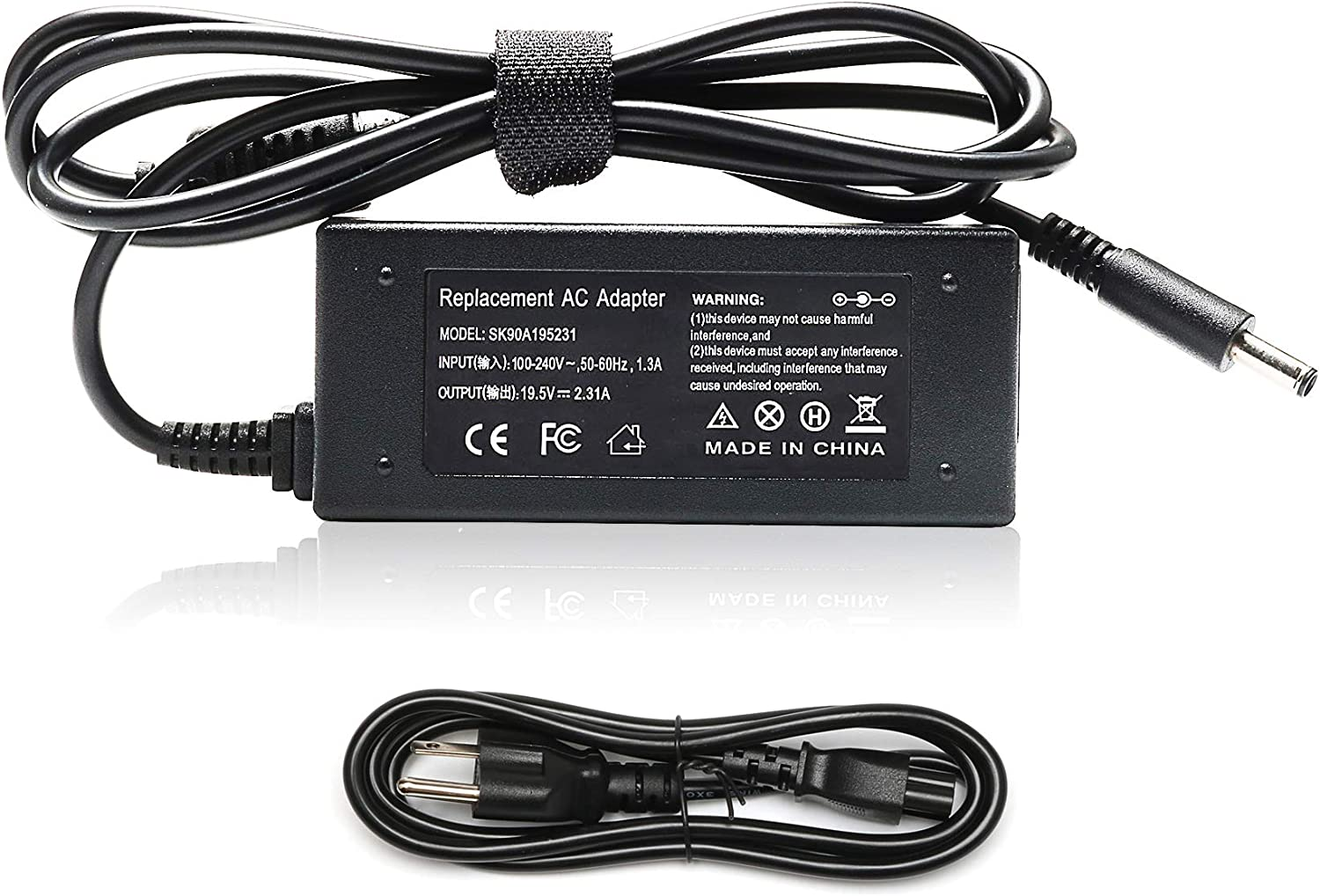 45W 19.5V 2.31A AC Adapter Laptop Charger for Dell Inspiron 13 14 15 17 Series 15 3551 3552 3558 5555 5558 5559 5565 5567 5568 5578 7558 13 5378 7347 7352 17 5755 5758 5759 Notebook Power Supply Cord