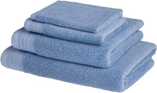 Juego de 4 toallas de baño de lujo de algodón peinado egipcio de 600 g/m2: 1 toalla de baño, 1 toalla de ducha, 1 toalla para invitados, 1 manopla de baño: Amazon.es: Hogar