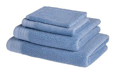 Juego de 4 toallas de baño de lujo de algodón peinado egipcio de 600 g/