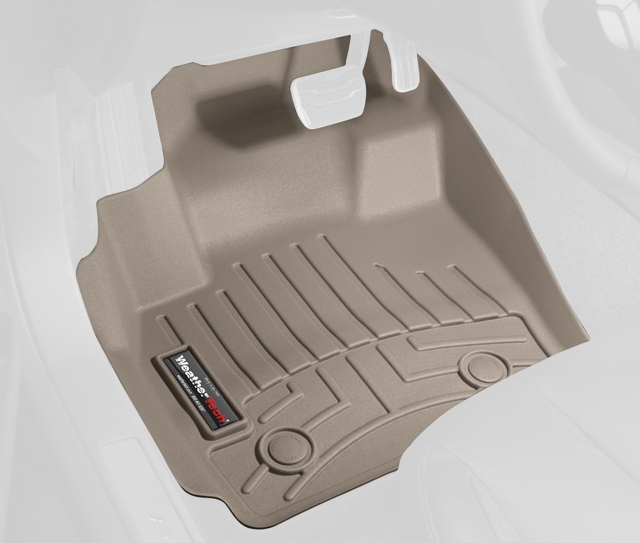 WeatherTech Custom Fit Front FloorLiner for Ford Explorer, Tan 450431