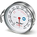 Polder Grill Surface Thermometer, Silver