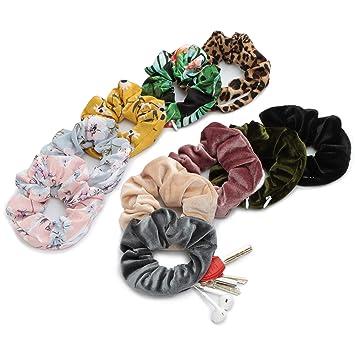 10 Pcs Hair Scrunchies Velvet Elastic Hair Bands Scrunchy Hair Rope Band 10 Pack