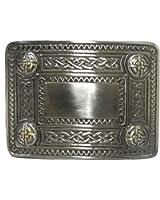 Boucle de ceinture avec motifs celtiques/écossais gaufrés - style antique
