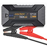 TACKLIFE KP120 1200A Peak Car Jump Starter for up to 8L Gas and 6L Diesel Engines, 12V Car Battery Booster, Portable Power Pack with Quick Charge 3.0 and Type-C Port