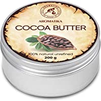 Cocoa Butter Pure & Natural 200g - Burkina Faso - Theobroma Cacao Seed Butter - Great Benefits for Skin - Hair - Face…