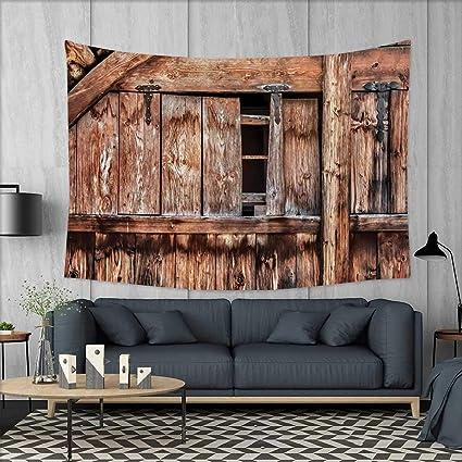Amazon Anniutwo Rustic Dorm Decor Abandoned Damaged Oak Barn