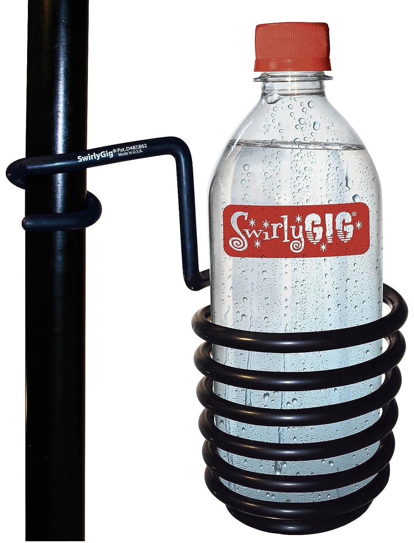 SwirlyGig SG2000 Swirlygig II Drink Holder for 1 Tubing, Black