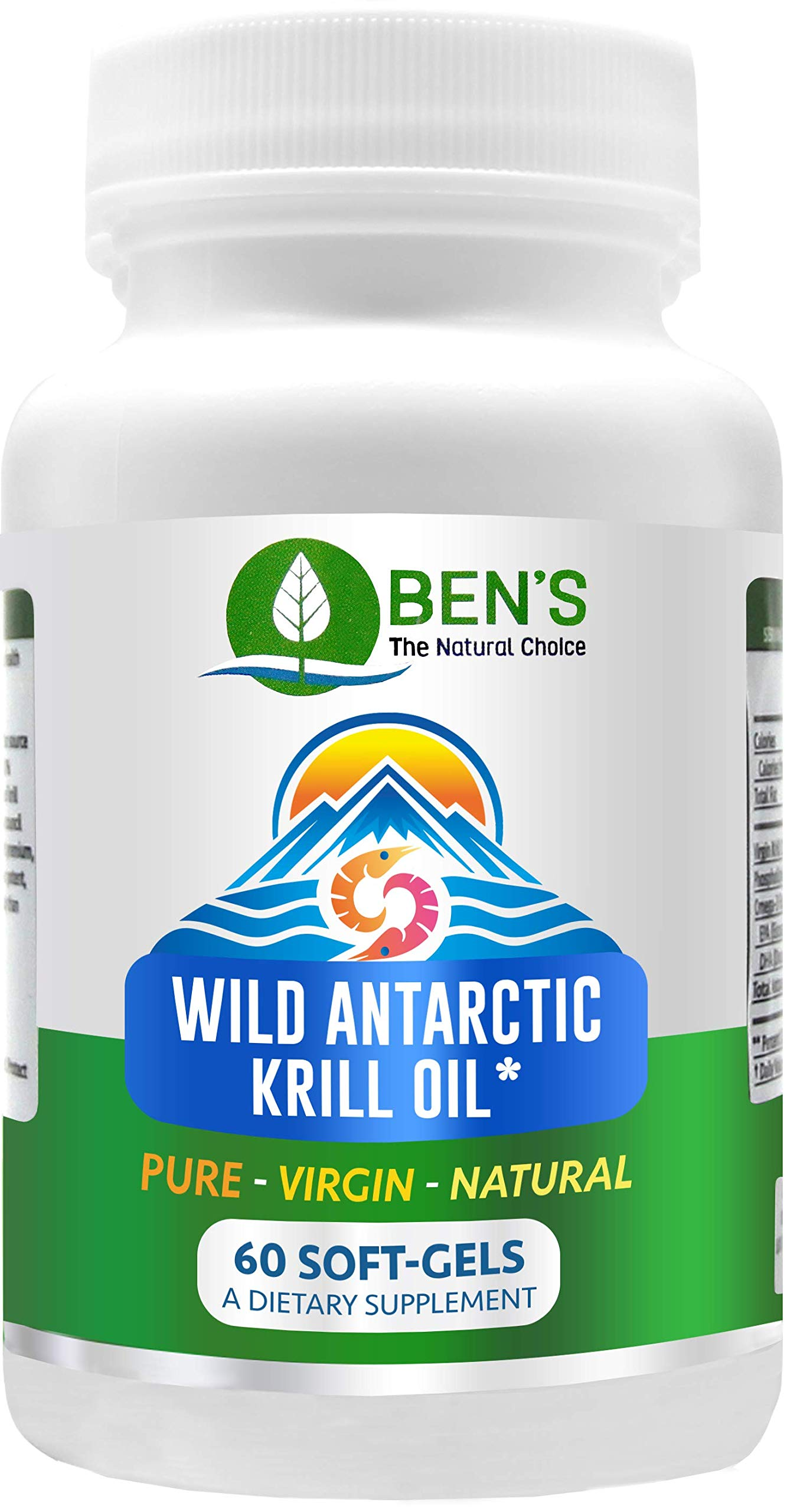 Ben's Wild Antarctic Krill Oil - Lubricate & Protect Joints - Supports Immune System - Heart Healthy (6 Bottles)
