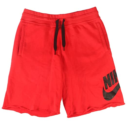 4bd2804d1f Image Unavailable. Image not available for. Color: NIKE Mens AW77 Alumni  Terry Sweat Shorts Red ...