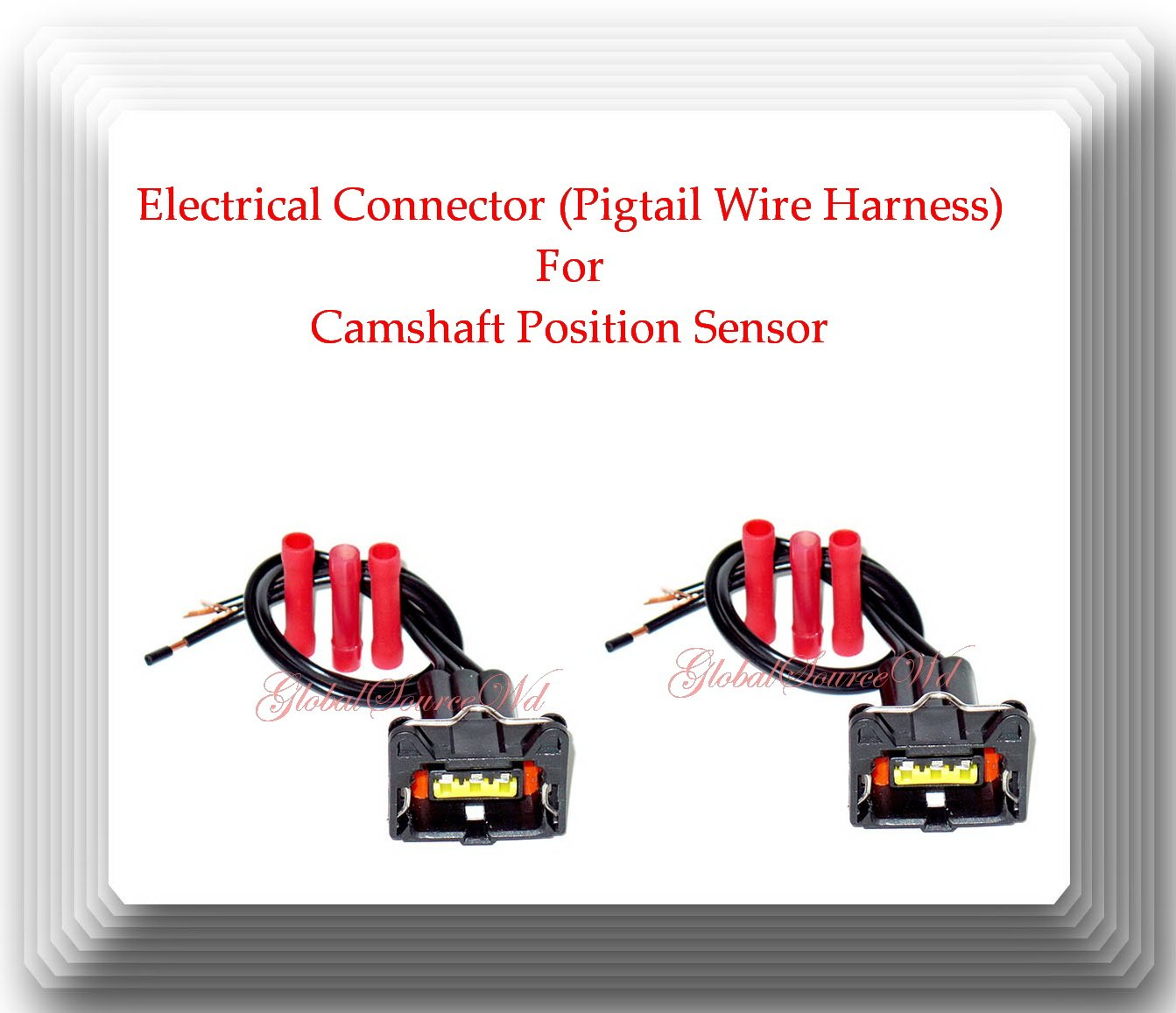 2 Pieces Electrical Connector Of Camshaft Position Sensor Wiring Harness Pc661 Fits Kia Forte Koup 2014 Soul 2010 2016 Spectra 2004 009