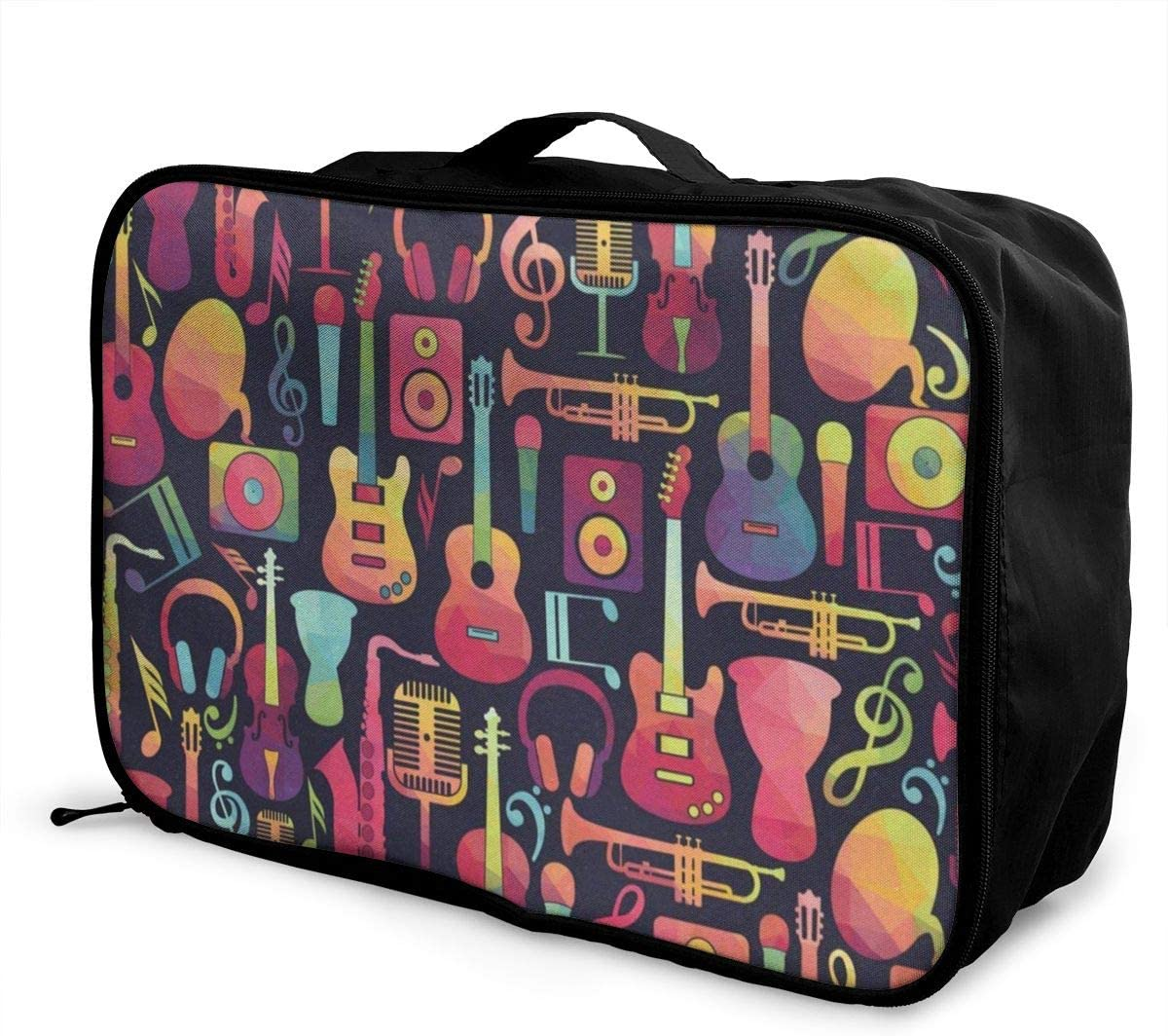 Travel Bags Music Item Portable Duffel Vintage Trolley Handle Luggage Bag