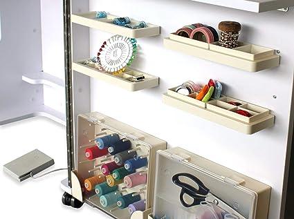 Mesa de costura con muchos compartimentos: Amazon.es: Hogar