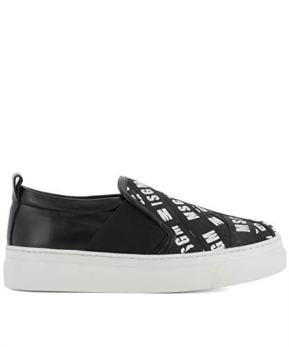 MSGM Damen 2241Mds05x013 Silber Leder Slip on Sneakers nGA9nVXH