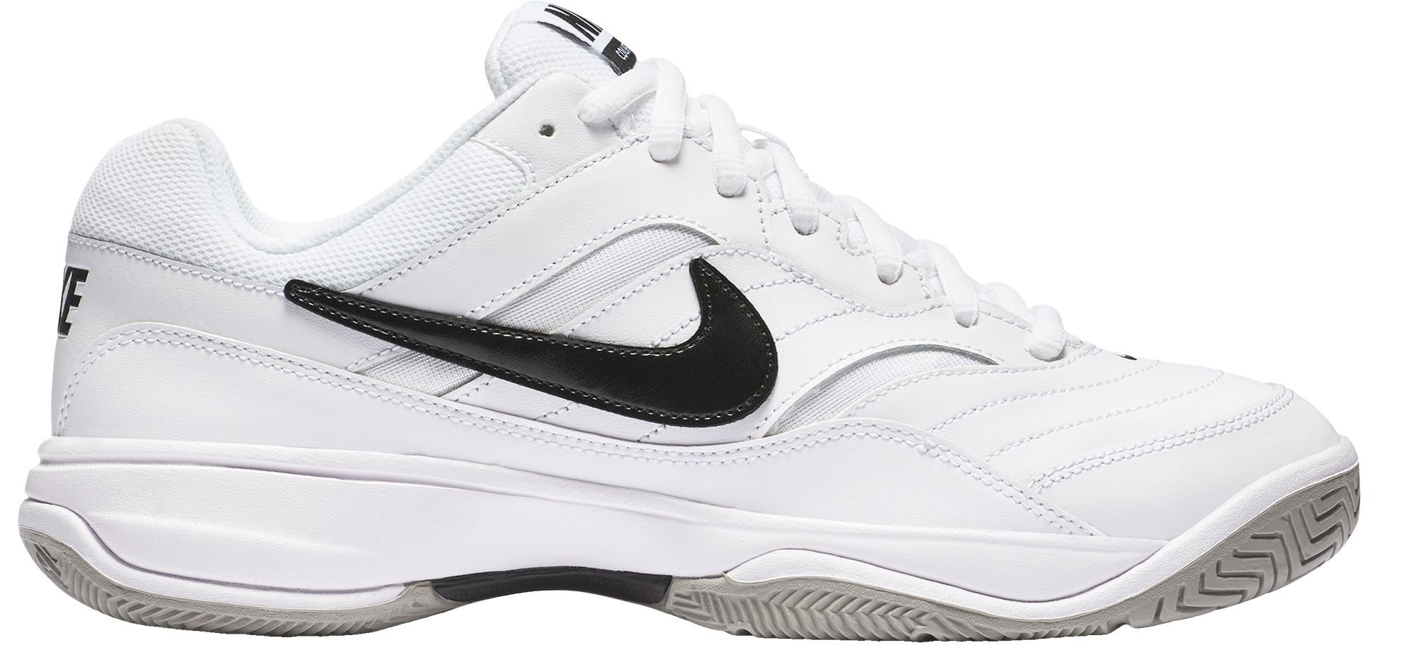 NIKE Men's Court Lite Tennis Shoe, White/Medium Grey/Black, 8.5 D(M) US