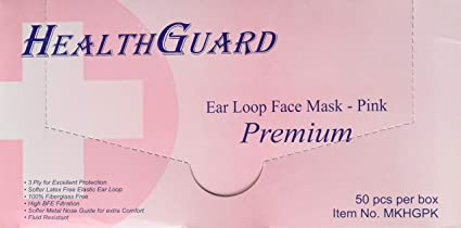 Buy Pink 3-ply Face Dental Masks Ear-loop Disposable Surgical