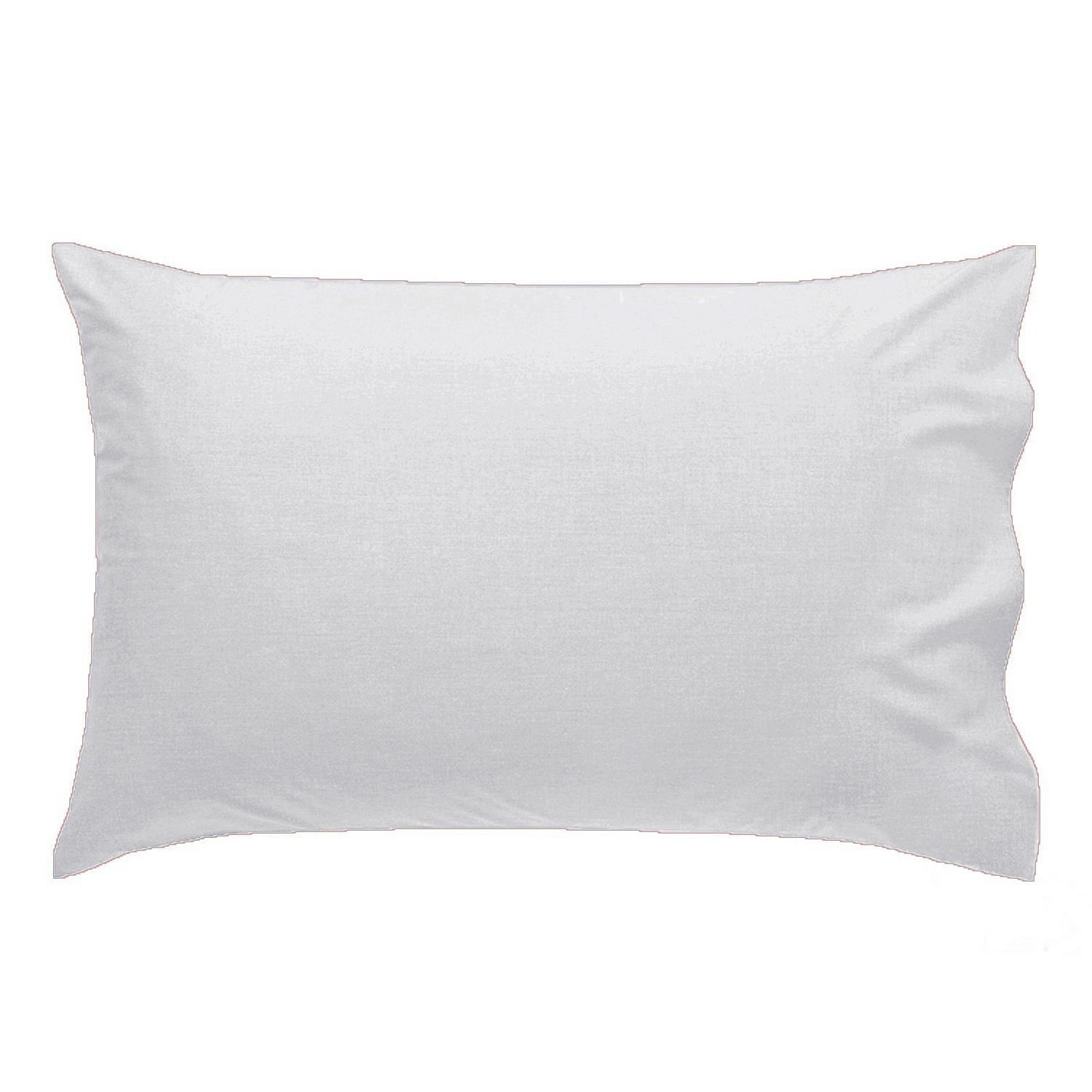 2 x LUXURY PILLOW CASES POLYCOTTON PAIR PACK HOUSEWIFE BEDROOM PILLOW COVER HUMLIN (White) by HUMLIN