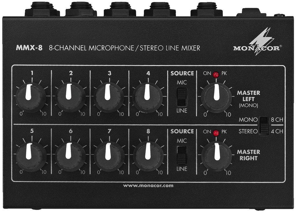 MMX-8 - 8-Channel Microphone - Stereo Line Mixer / Bild: Amazon.de