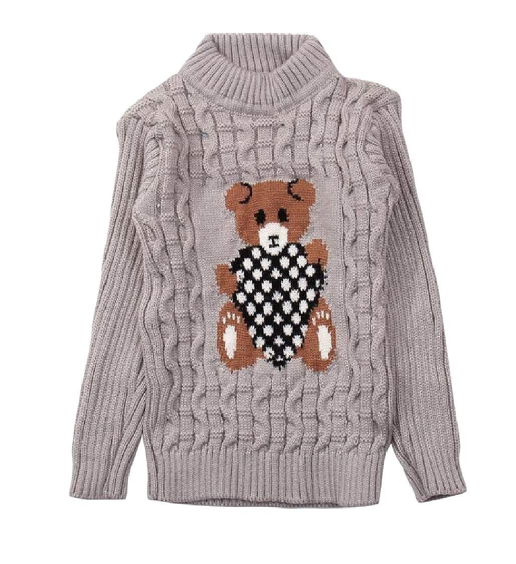 pipigo Girls Pullover Cute Casual Slim Jumper Knitted Sweater