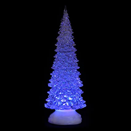 Christmas Tree Not Taking Water.32cm Xmas Tree Colour Changing Led Light Glitter Water Christmas Decoration