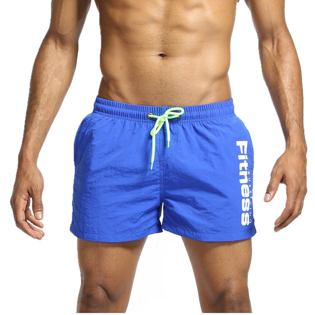 LJCCQ Men's Shorts Swim Trunks Quick Dry Beach Shorts With Pockets For Surfing Running Swimming Watershort (US L Asia Tag XXL -Waist:32''-37'', Blue1)