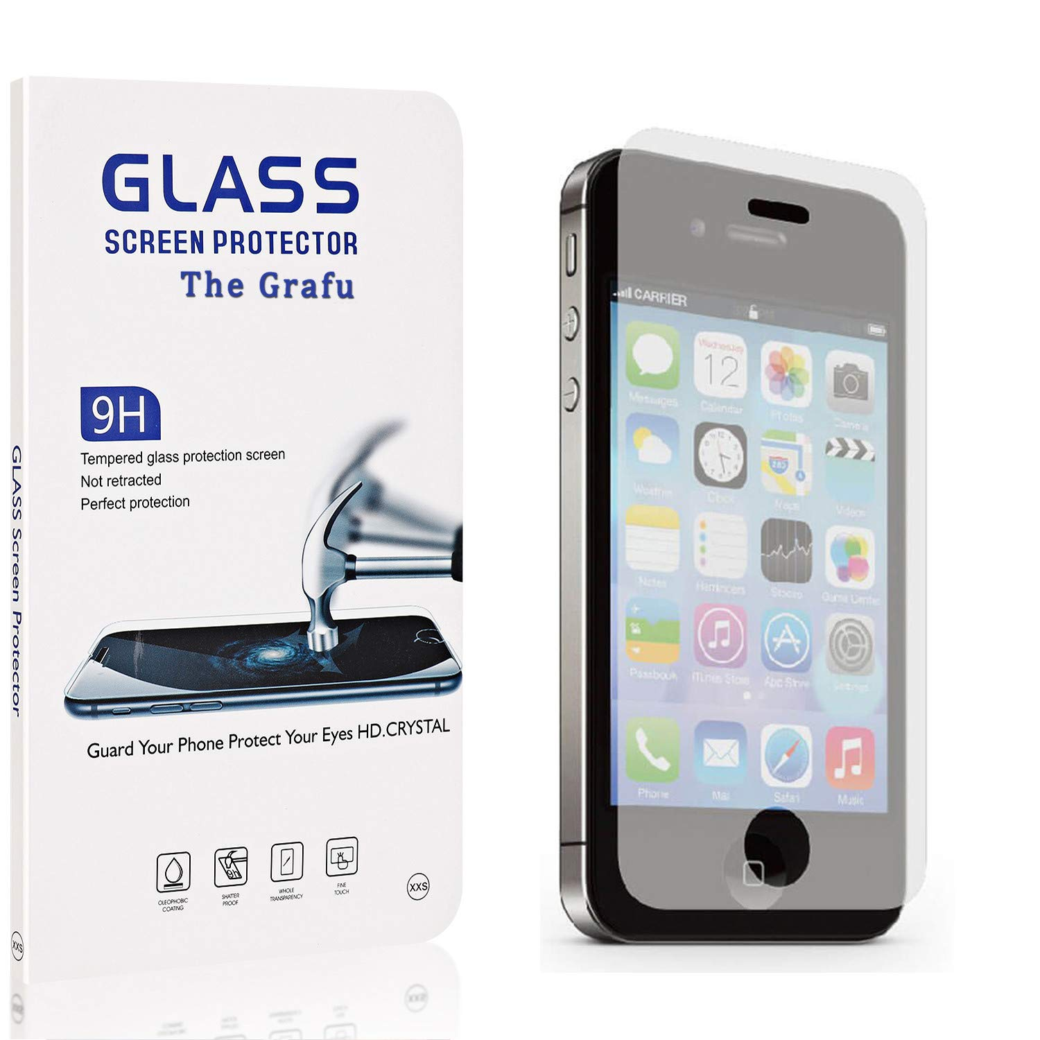 Anti Scratch Tempered Glass Screen Protector for iPhone 8 // iPhone 7 Drop Fall Protection The Grafu Screen Protector for iPhone 8 // iPhone 7 9H Hardness 3 Pack