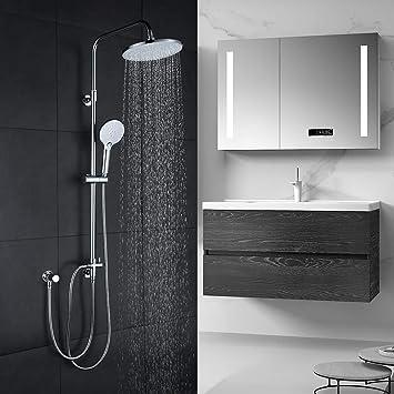WOWOW - Columna de ducha cromada, altura regulable, conjunto de ...