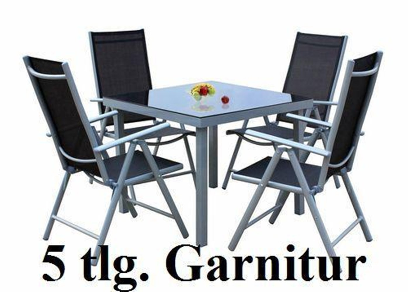 SSITG 5tlg. Alu Gartenmöbel-Set Gartengarnitur Balkonmöbel-Set ...