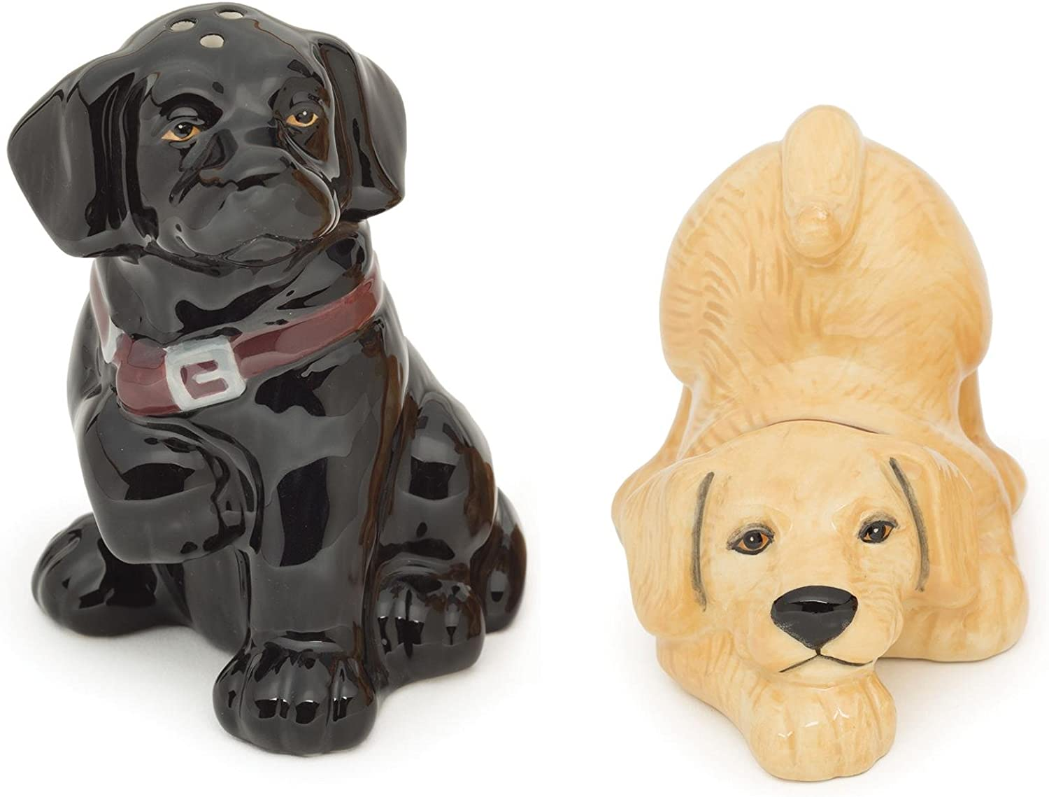 LAB YELLOW /& BLACK ~ Big Sky Carvers Canine~Salt and Pepper Shakers~NEW DOG