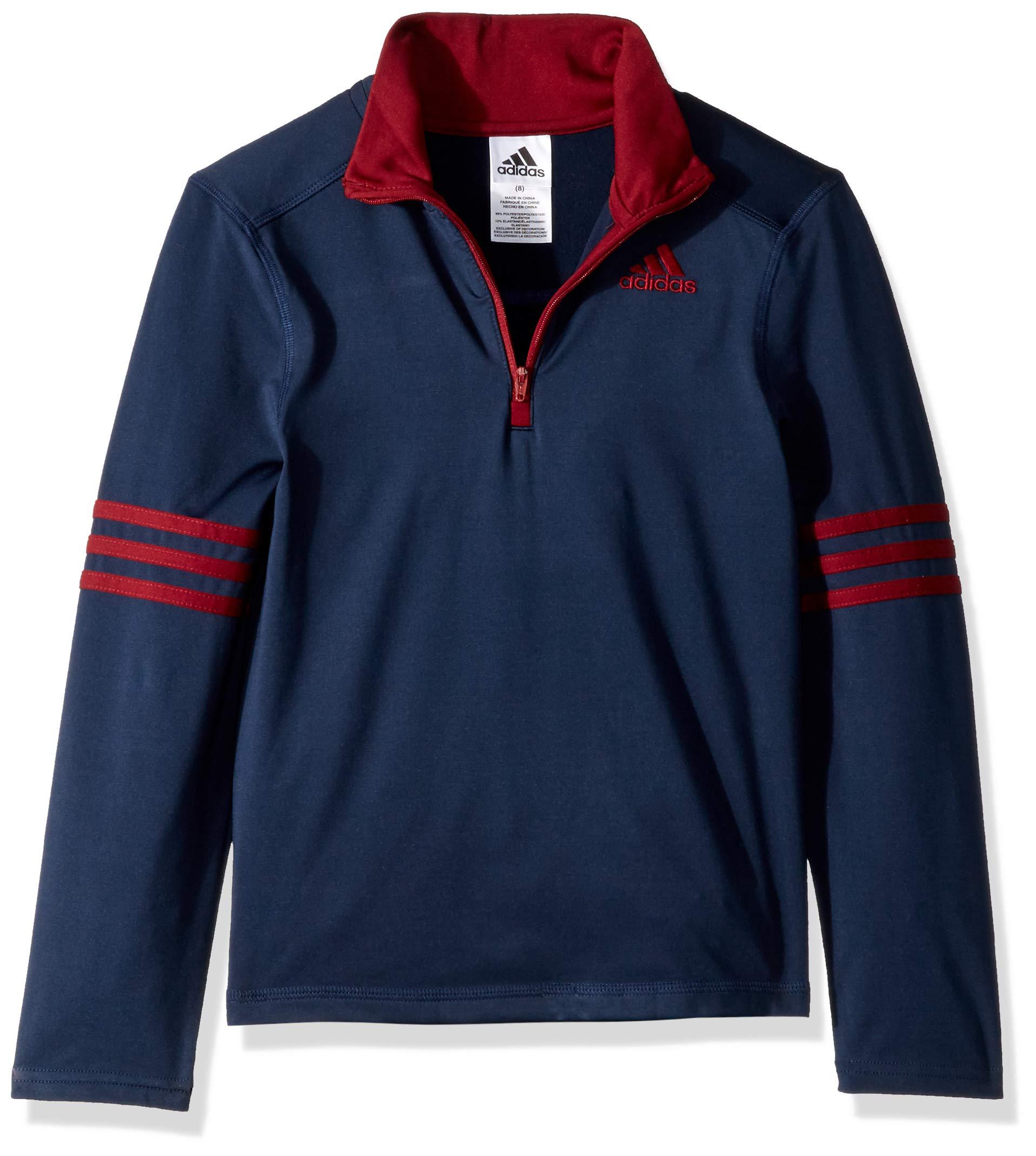 adidas Boys' Big Athletic Quarterzip, Navy, S (8/10)
