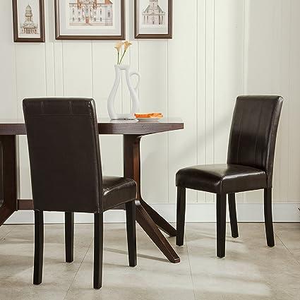 Great Belleze Elegant Kitchen Dinette Dining Room Chair Design Leather Backrest, ( Set Of 2)