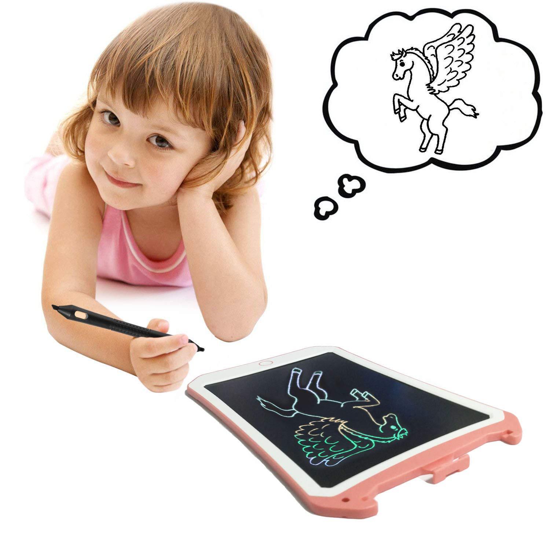 Cadeau danniversaire pour Les Enfants De 4 /À 5 Ans Et Les Adultes Tablette D/ÉCriture LCD Couleur avec Stylet Papier Intelligent Rose01 BIBOYELF Tableaux D/ÉCriture Et De Dessin pour Enfants