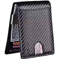 Eicoss Portafoglio Uomo Slim Rifd 2a generazione Porta Carte Di Credito Schermato Piccolo Sottile Con Clip Banconote Carbon