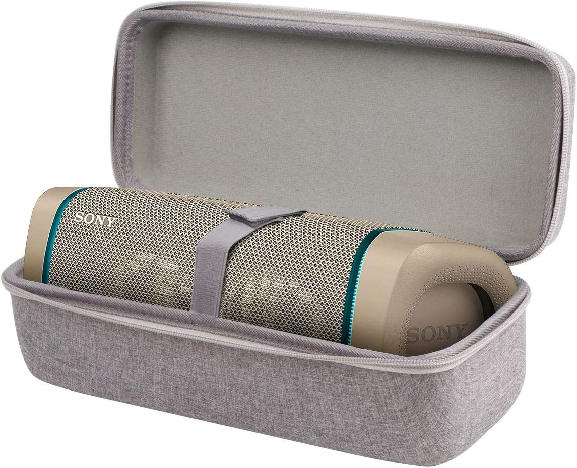 Aenllosi Hard Carrying Case for Sony SRS-XB33 Extra BASS Wireless Speaker IP67 Bluetooth (Grey)