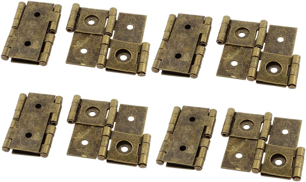 46mmx54mm Retro Style Double Action Folding Screen Hinge Bronze Tone 6pcs Pack of 6