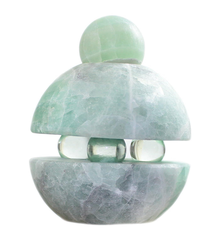 Budawi® - Edelstein Fluorit-Quellstein für Zimmerbrunnen, Edelsteinbrunnen, Quellsteinbrunnen, Brunnenschale
