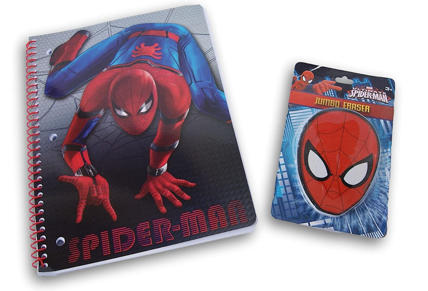 IDL Spider-Man Back to School Set - Spiral Notebook and Jumbo Eraser