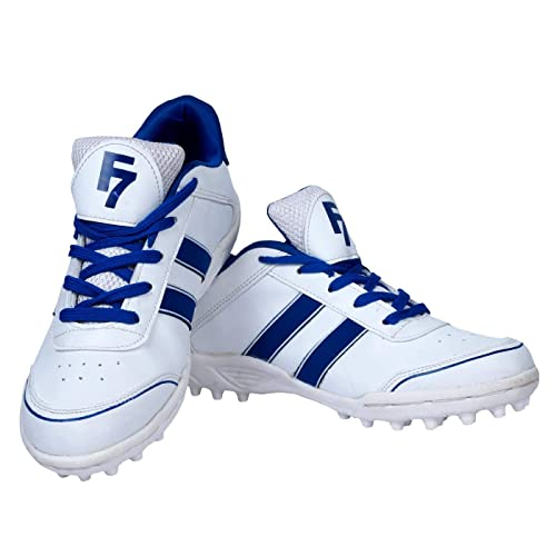 a34a03b7c Fashion7 White and Blue Shoes for Mens - Cricket Shoes  Buy Online at Low  Prices in India - Amazon.in